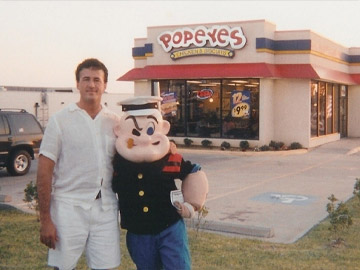Al Copeland with Popeye