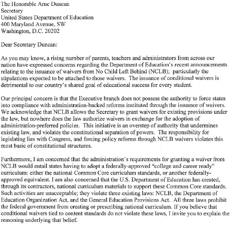 sen rubio letter to sec duncan on national standards jay p