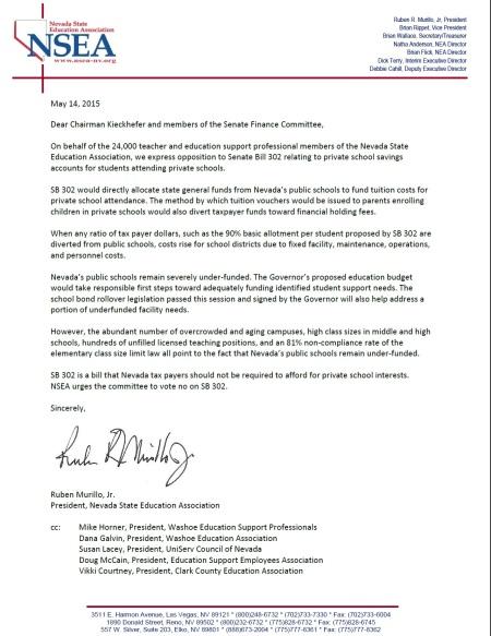 NSEA letter