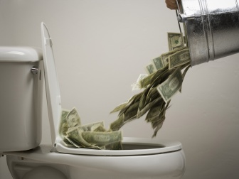 money-down-toilet