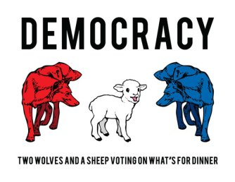 democracy-is-two-wolves-and-a-sheep-voting-on-whats-for-dinner