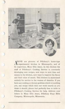 For Mildred Day profile in Sept. 30, 2012 Famous Iowans column. Photo from the 1933 Pillsbury cookbook. In that photo, Mildred is on the left. The woman in the oval photo is named in the text there (Mary Ellis Ames, I think) and was sort of a mythical Betty Crocker character. I hope you can use this photo as it shows the young, working Mildred in a kitchen. The family was kind to let us use it. (Special to the Register)